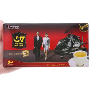Cà phê sữa hòa tan G7 3 trong 1 hộp 336g (16g x 21 gói)