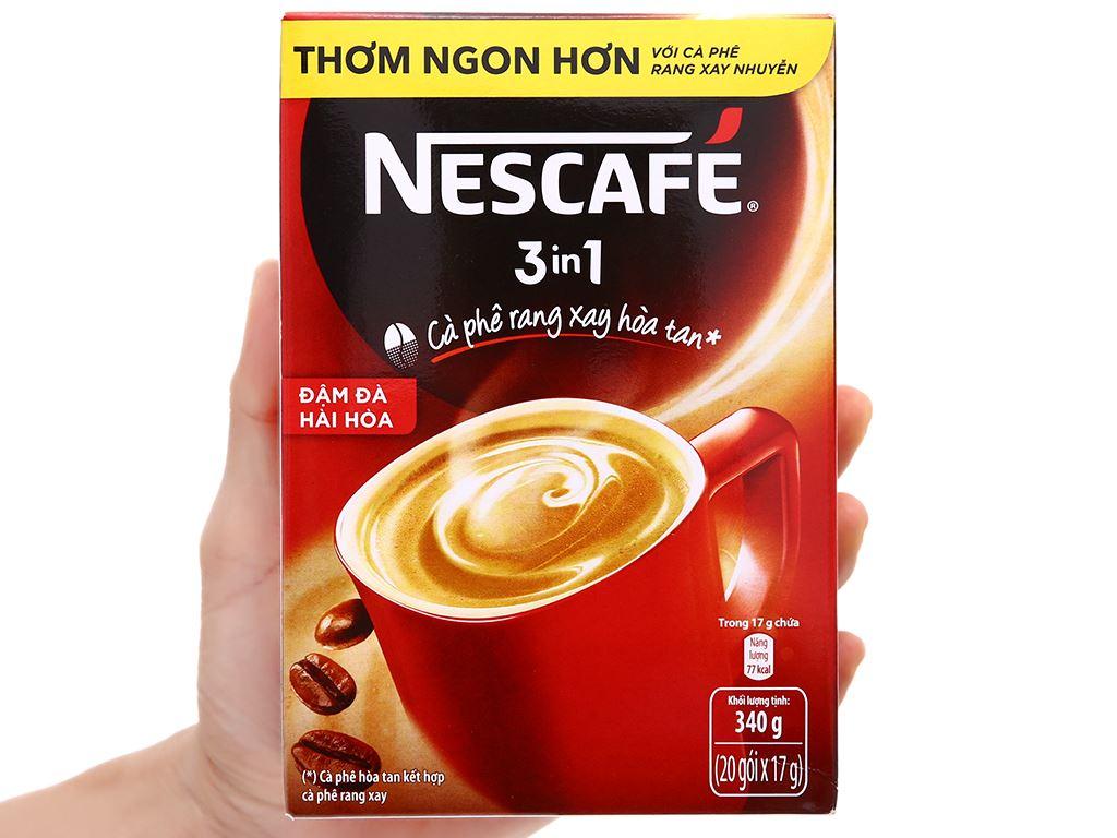 Cà phê sữa NesCafé 3 in 1 đậm đà hài hòa 340g 4