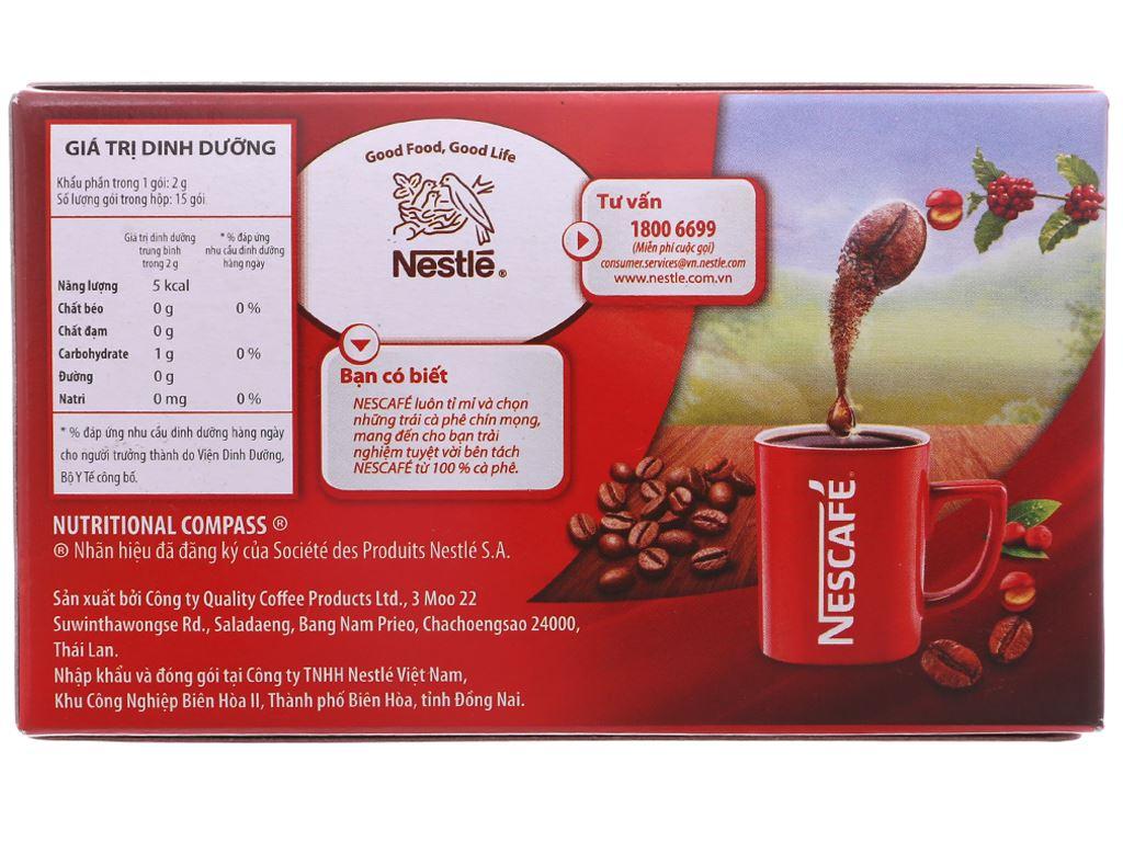 Cà phê đen NesCafé Red Cup 30g 3