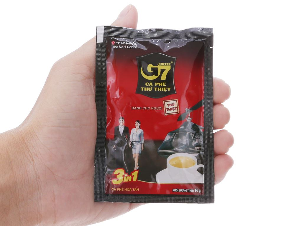 Cà phê sữa hòa tan G7 3 trong 1 320g (16g x 20 gói) 6