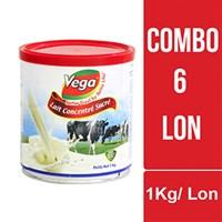 Combo 6 lon sữa đặc có đường Vega 1kg