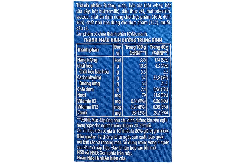 Sữa đặc có đường Hoàn Hảo hộp giấy 1270g-3