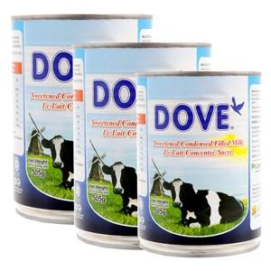 Combo 3 lon sữa đặc Dove 505g