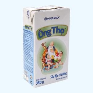 Sữa đặc có đường Ông Thọ Trắng nhãn xanh hộp 380g