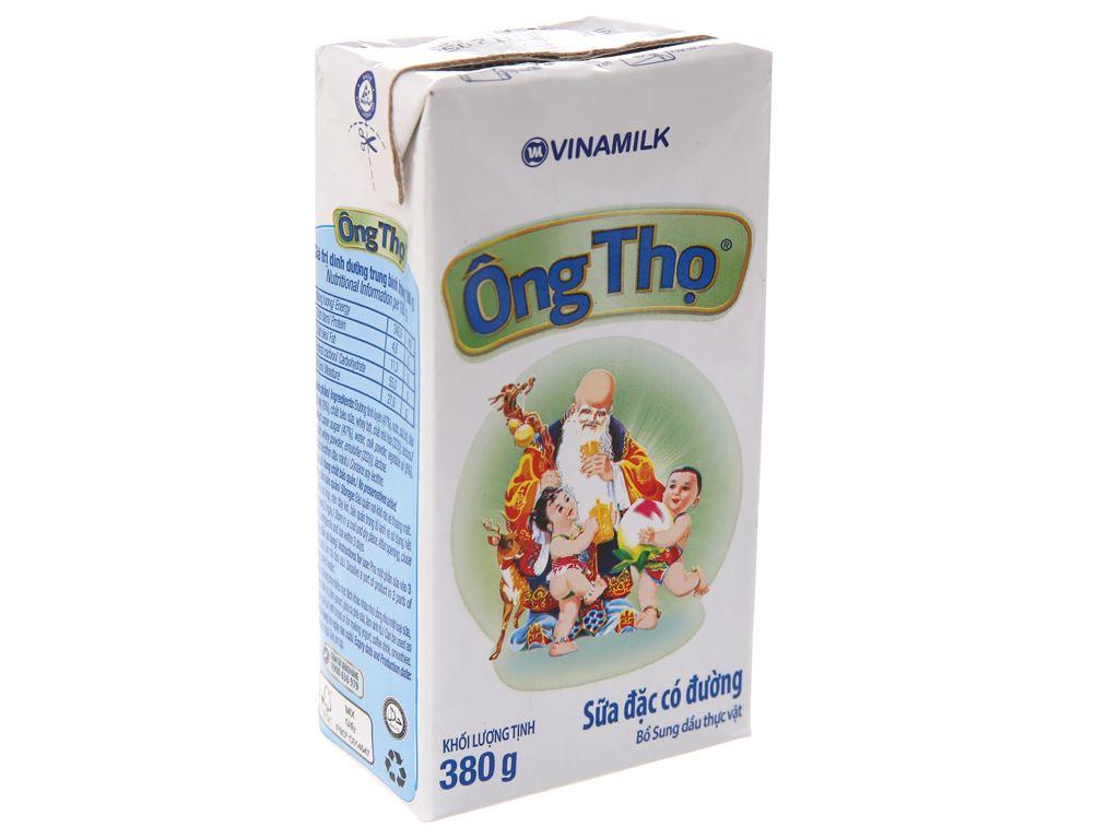 Sữa đặc có đường Ông Thọ trắng nhãn xanh hộp 380g 2