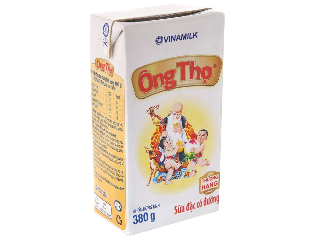 Sữa đặc có đường Ông Thọ trắng nhãn vàng hộp 380g 2
