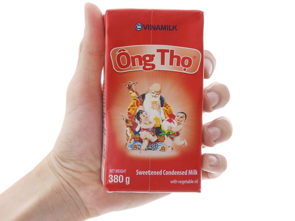 Sữa đặc có đường Ông Thọ đỏ hộp 380g 5