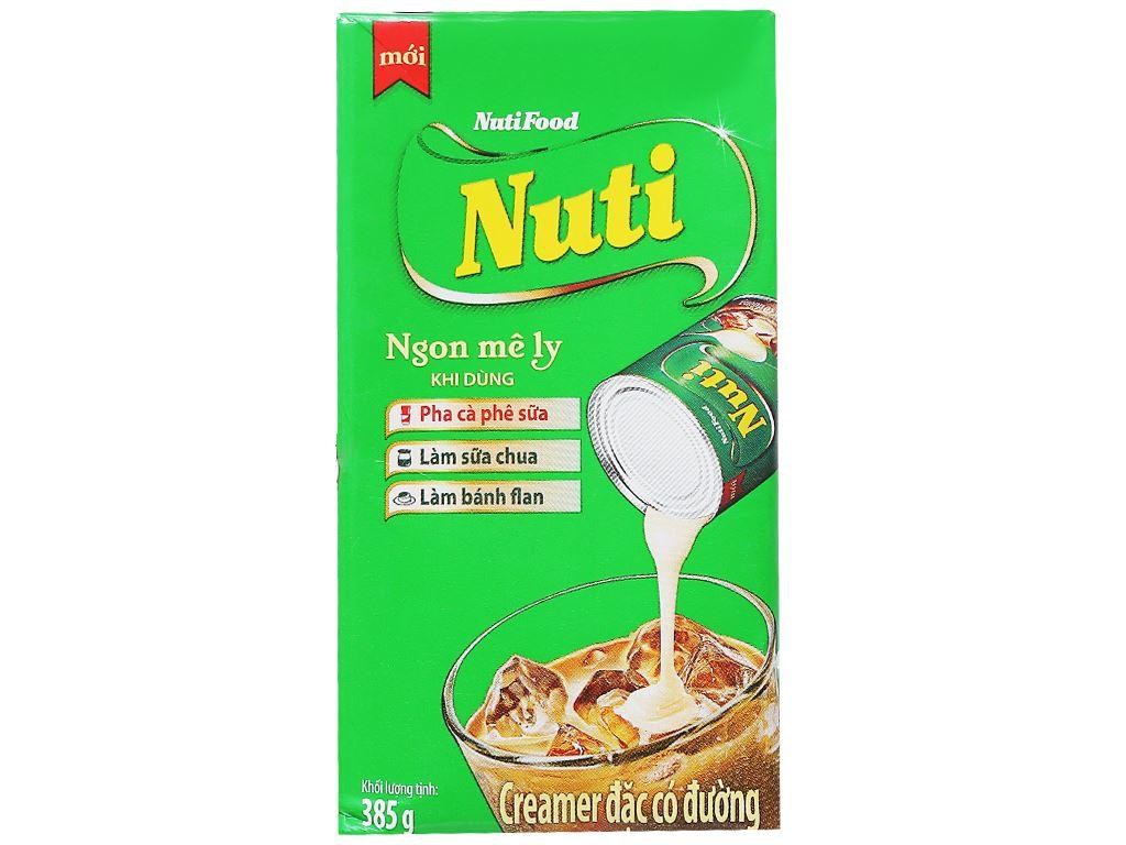 Kem đặc có đường Nuti xanh lá hộp 385g 2