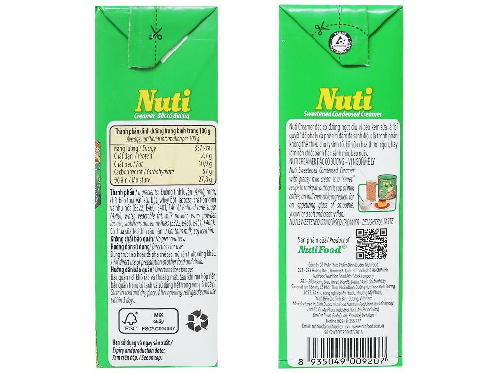 Kem đặc có đường Nuti xanh lá hộp 385g 3