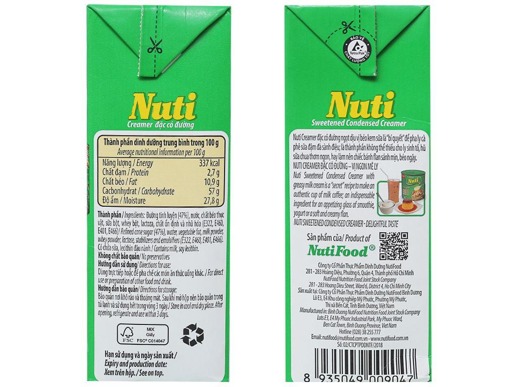 Kem đặc có đường Nuti xanh lá hộp 1,284kg 4