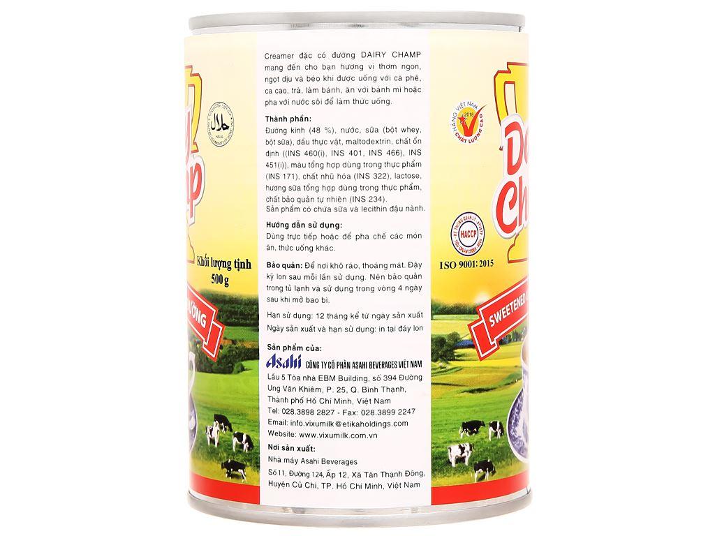 Sữa đặc có đường Dairy Champ lon 500g 2