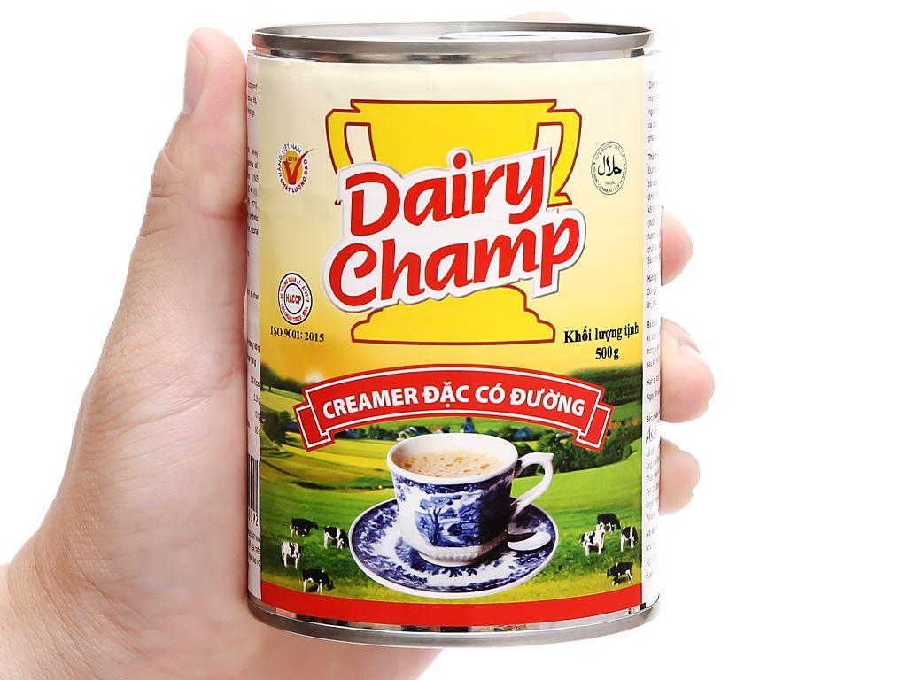 Sữa đặc có đường Dairy Champ lon 500g 4