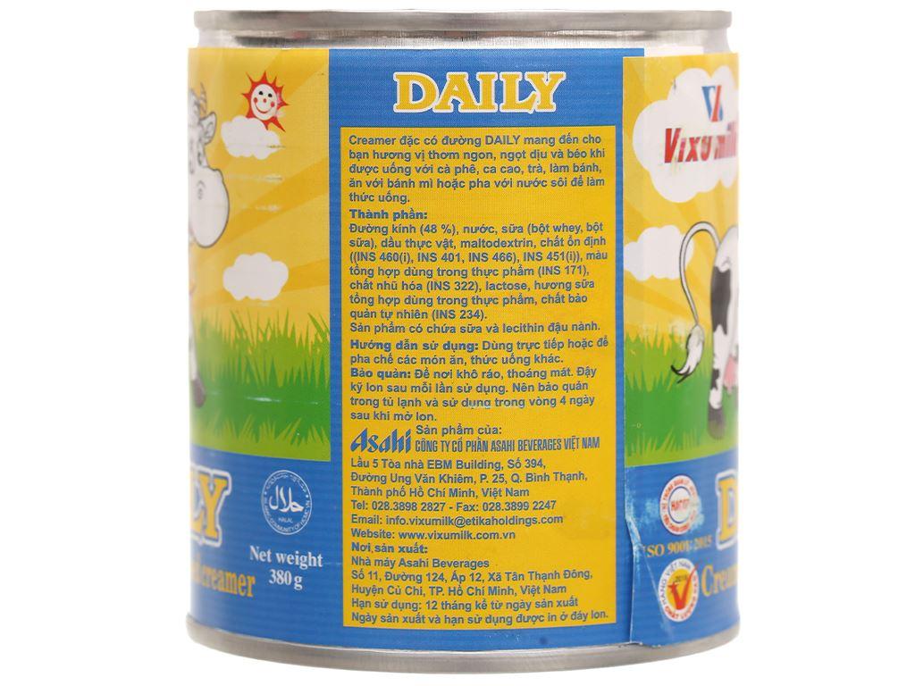 Kem đặc có đường Daily lon 380g 3
