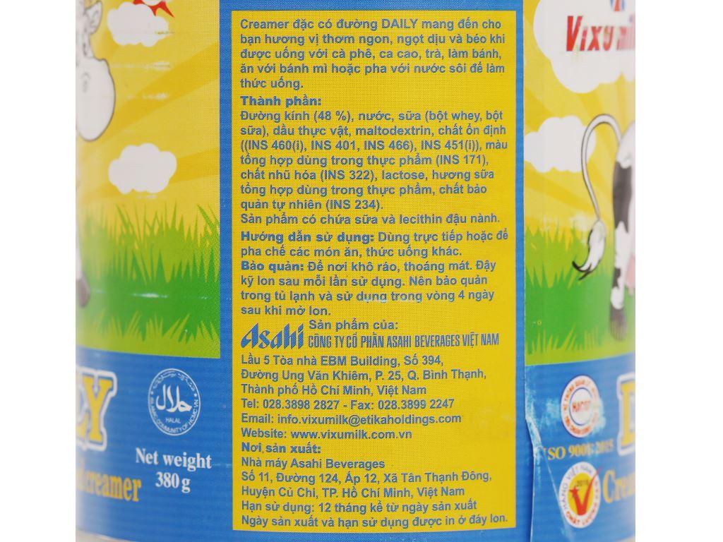 Kem đặc có đường Daily lon 380g 4