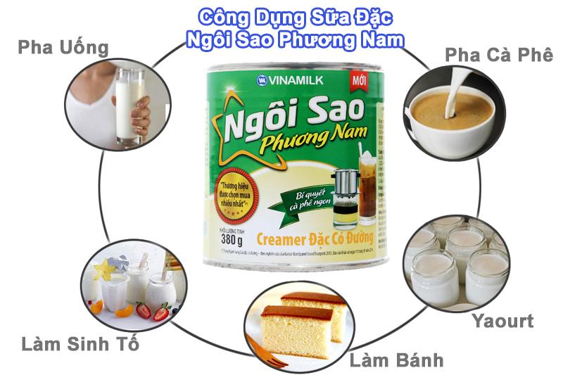 Sữa đặc có đường Ngôi Sao Phương Nam Xanh lá lon 380g