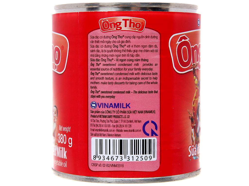 Sữa đặc có đường Ông Thọ đỏ lon 380g 4