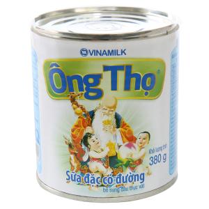 Sữa đặc có đường Ông Thọ trắng nhãn xanh lon 380g