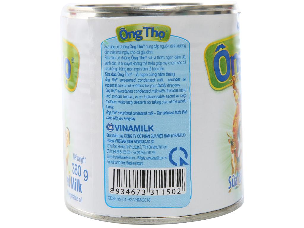 Sữa đặc có đường Ông Thọ trắng nhãn xanh lon 380g 2