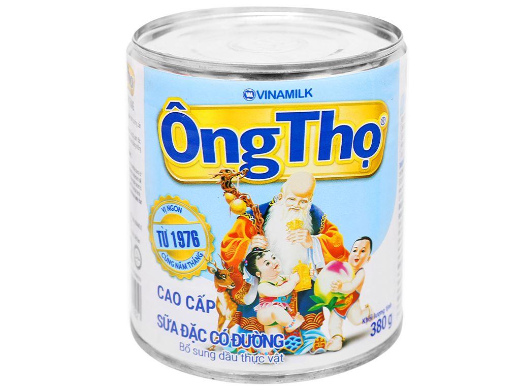 Sữa đặc có đường Ông Thọ trắng nhãn xanh lon 380g 1