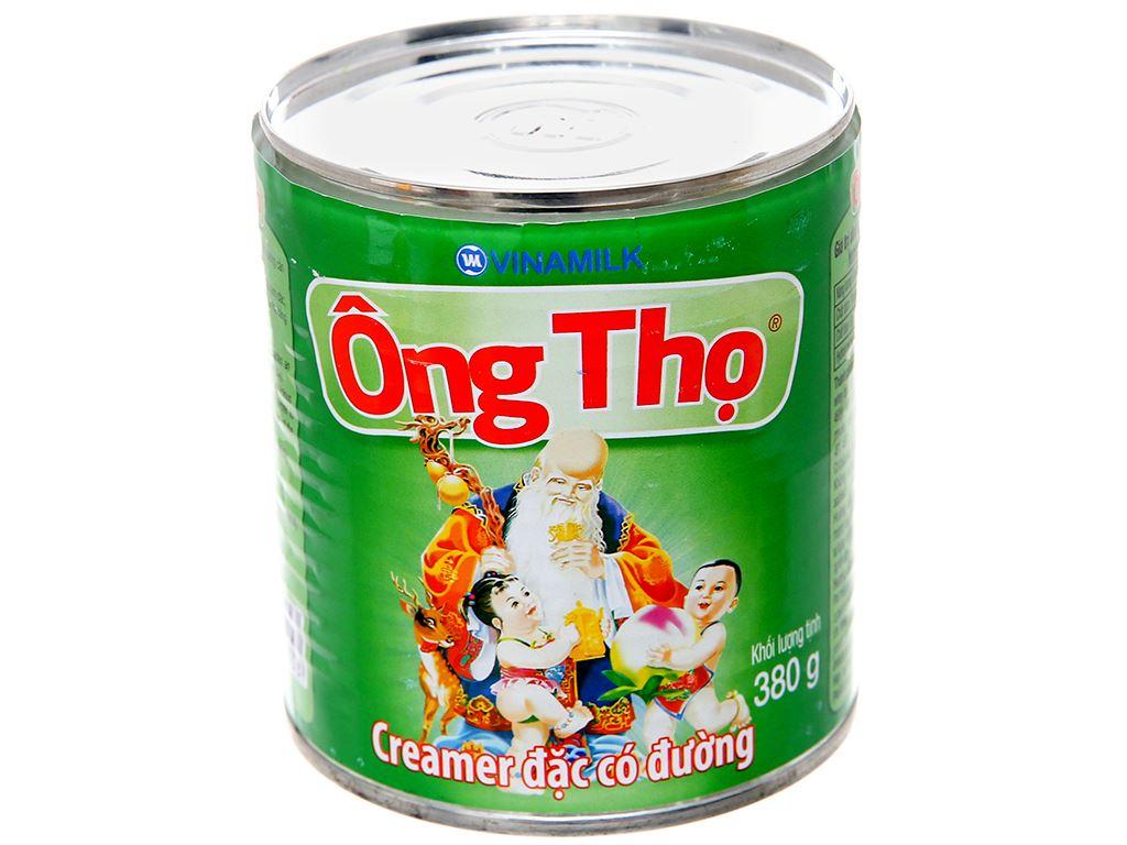 Sữa đặc có đường Ông Thọ xanh lá lon 380g 2