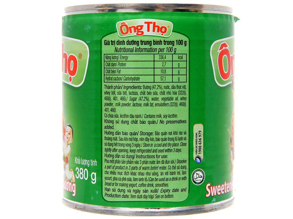 Sữa đặc có đường Ông Thọ xanh lá lon 380g 3