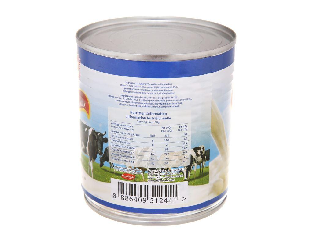 Sữa đặc có đường Vega lon 390g 4
