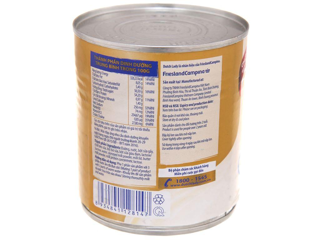 Sữa đặc có đường Dutch Lady Nguyên kem lon 380g 3