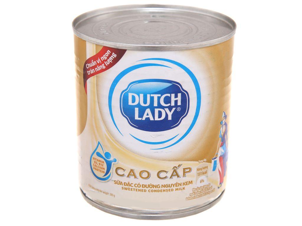 Sữa đặc có đường Dutch Lady nguyên kem lon 380g 2