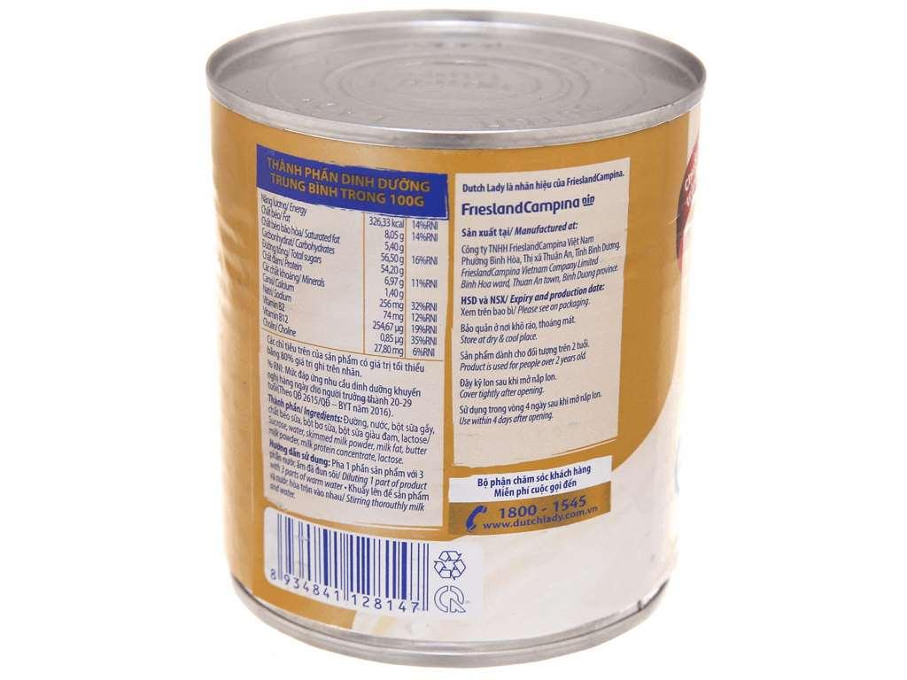 Sữa đặc có đường Dutch Lady nguyên kem lon 380g 4