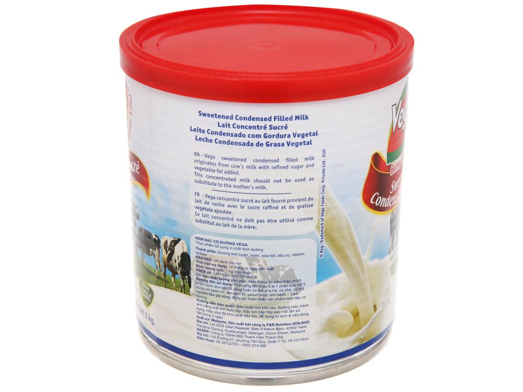 Sữa đặc có đường Vega lon 1kg 3