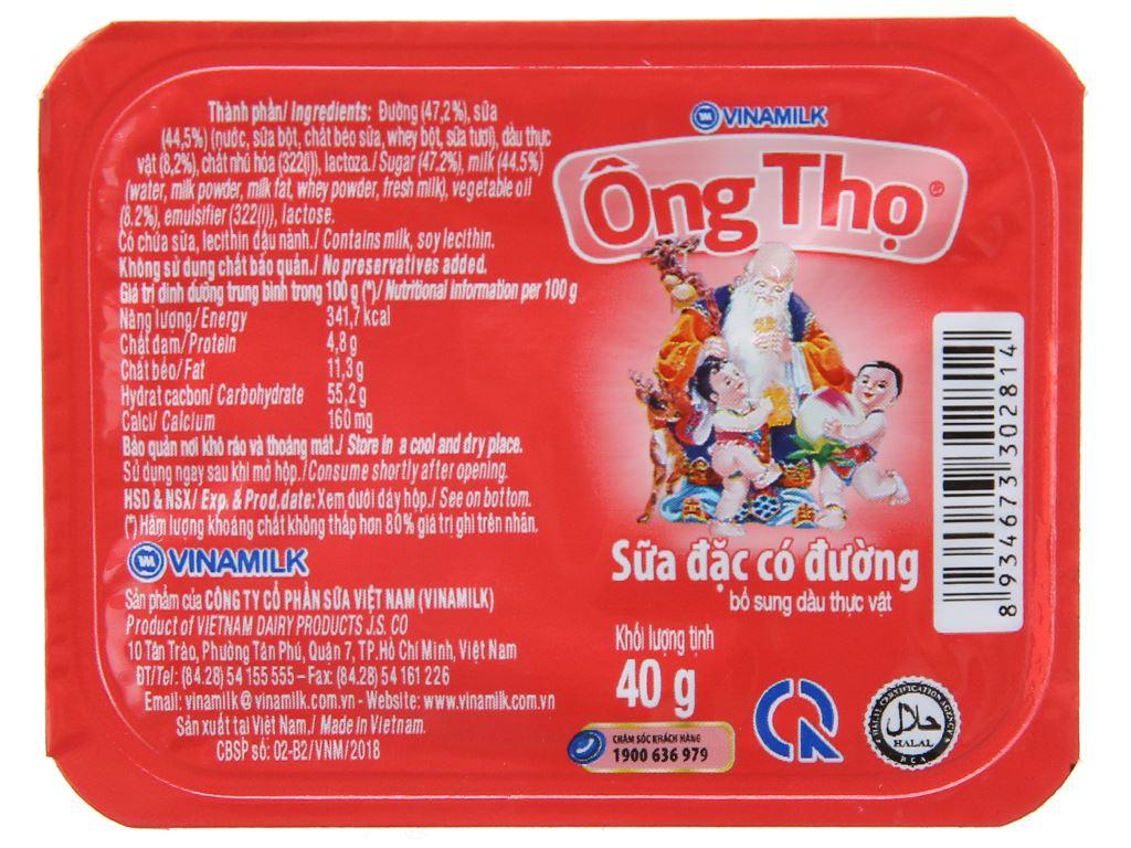 Sữa đặc có đường Ông Thọ đỏ hộp 40g 2