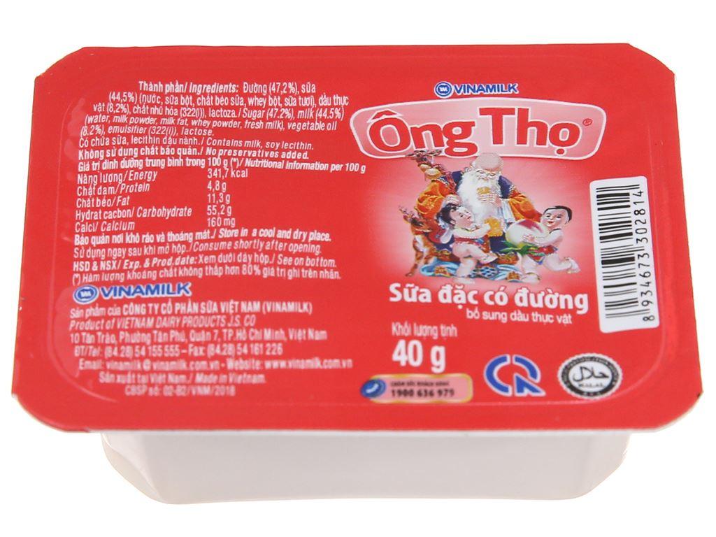Sữa đặc có đường Ông Thọ đỏ hộp 40g 3
