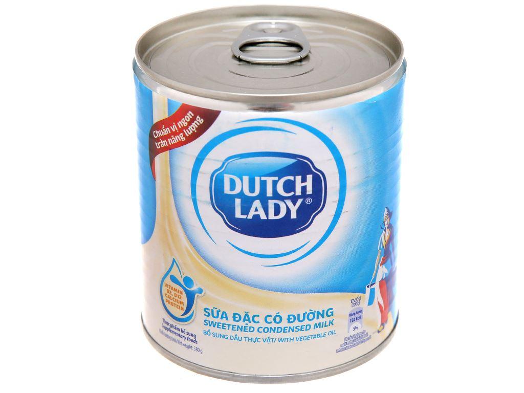 Sữa đặc có đường Dutch Lady xanh biển lon 380g 1