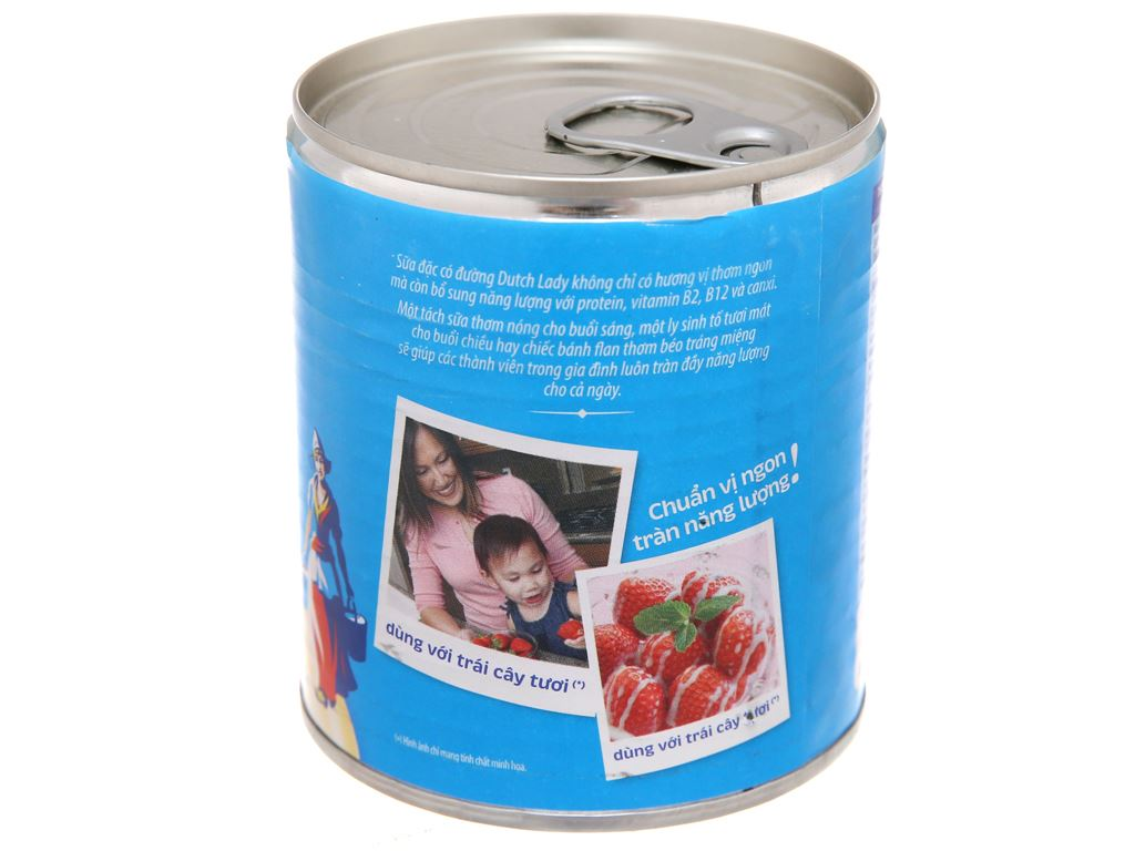 Sữa đặc có đường Dutch Lady xanh biển lon 380g 2