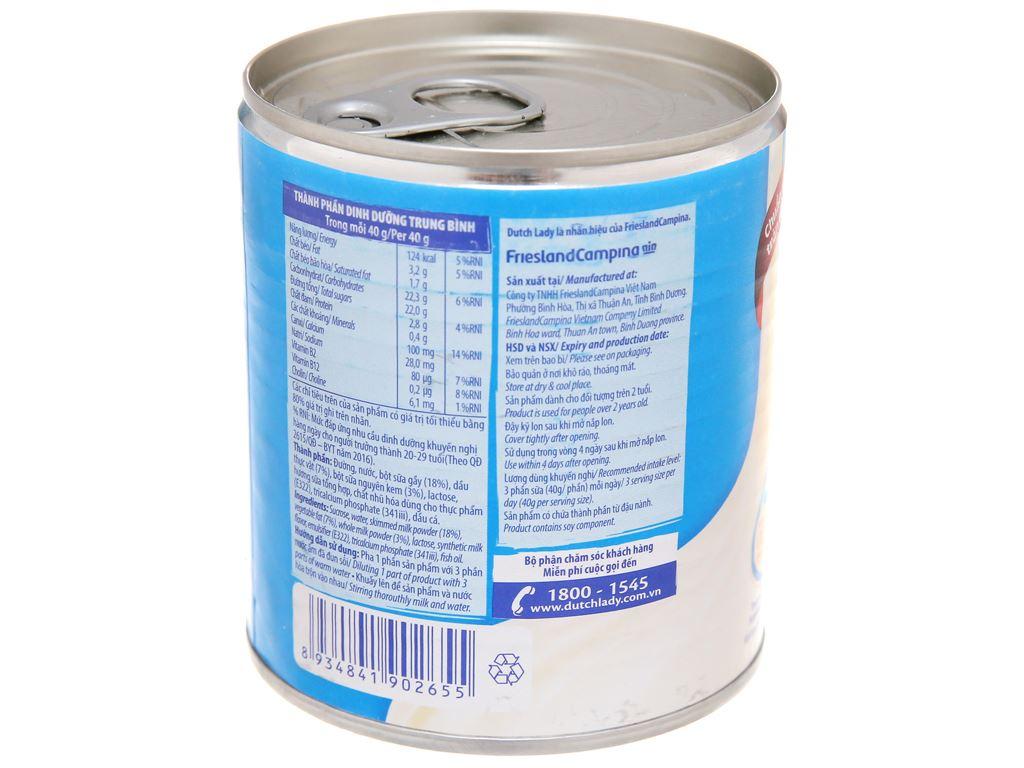 Sữa đặc có đường Dutch Lady xanh biển lon 380g 3