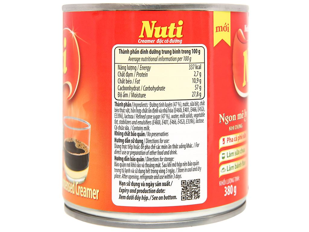 Kem đặc có đường Nuti lon 380g 5