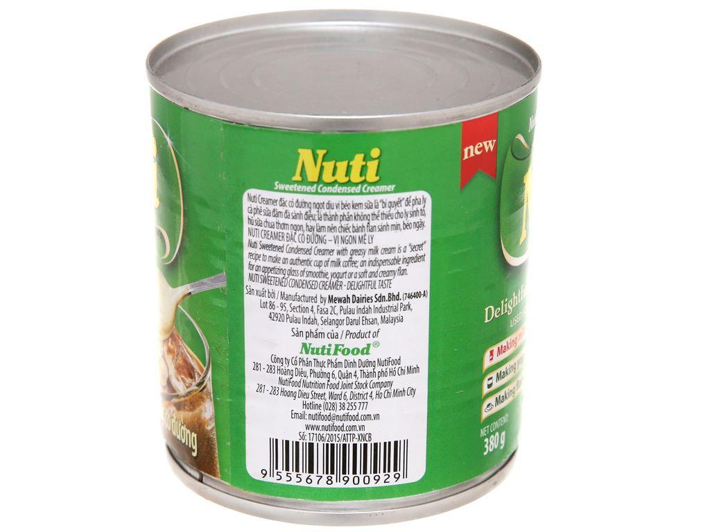 Kem đặc có đường Nuti xanh lá lon 380g 3