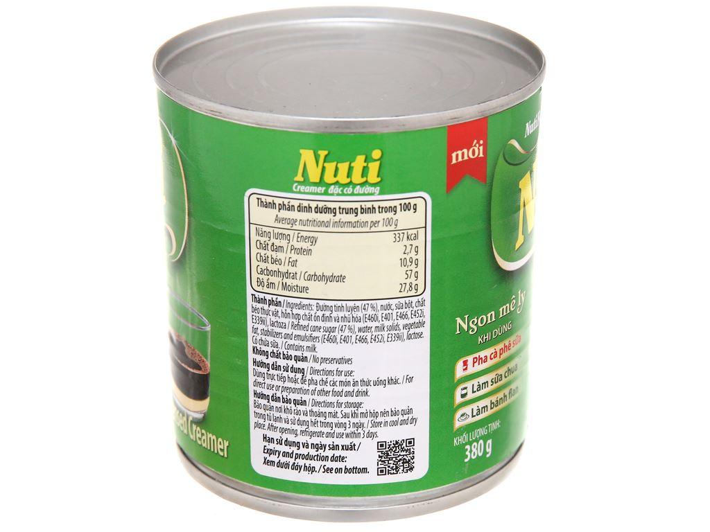 Kem đặc có đường Nuti xanh lá lon 380g 4