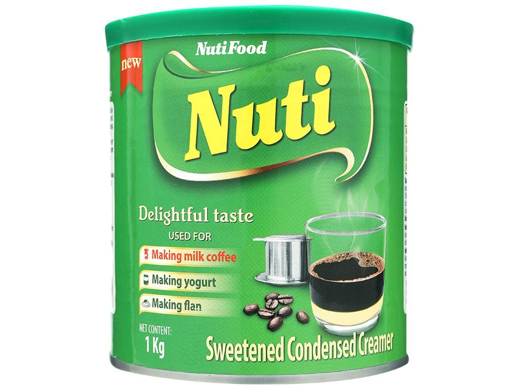 Kem đặc có đường Nuti xanh lá lon 1kg 1