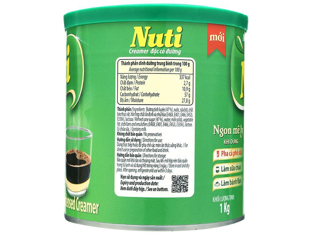 Kem đặc có đường Nuti xanh lá lon 1kg 2