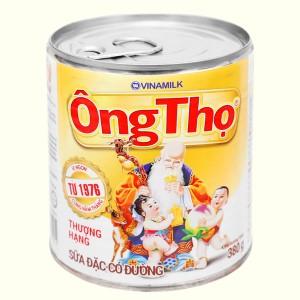 Sữa đặc có đường Ông Thọ trắng nhãn vàng lon 380g