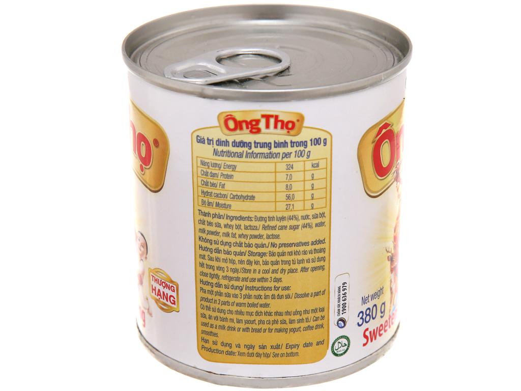 Sữa đặc có đường Ông Thọ trắng nhãn vàng lon 380g 4