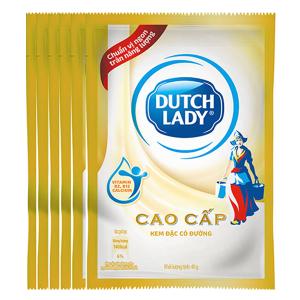 Kem đặc có đường Dutch Lady cao cấp lốc 6 gói 40g