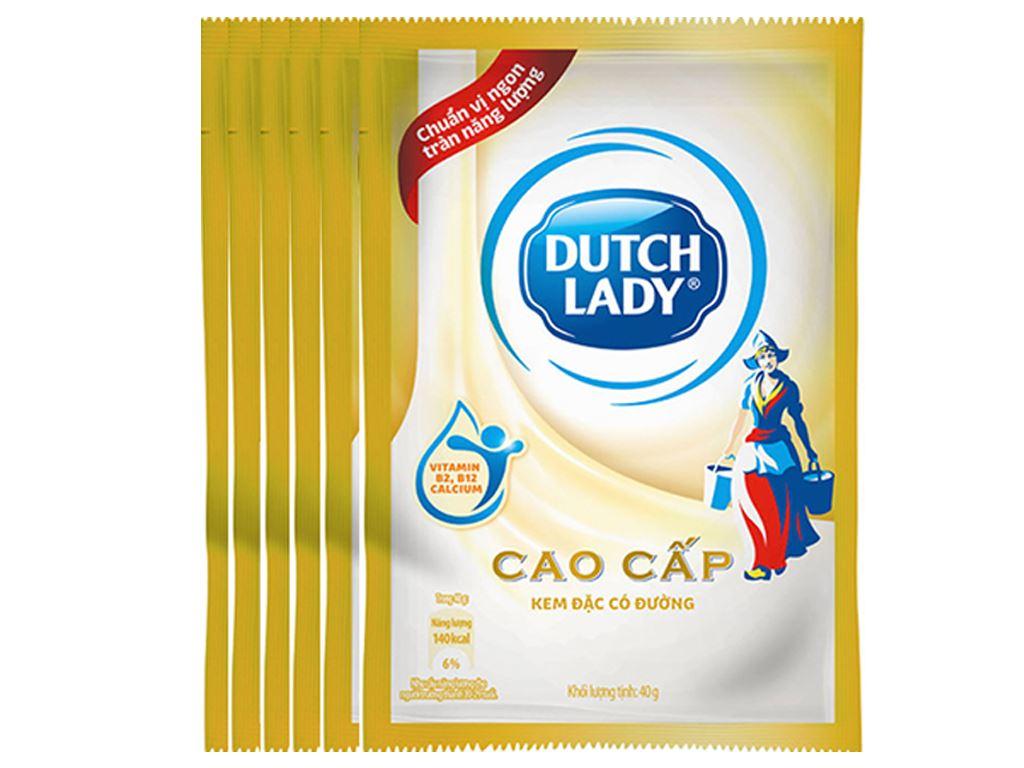 Kem đặc có đường Dutch Lady cao cấp lốc 6 gói 40g 1