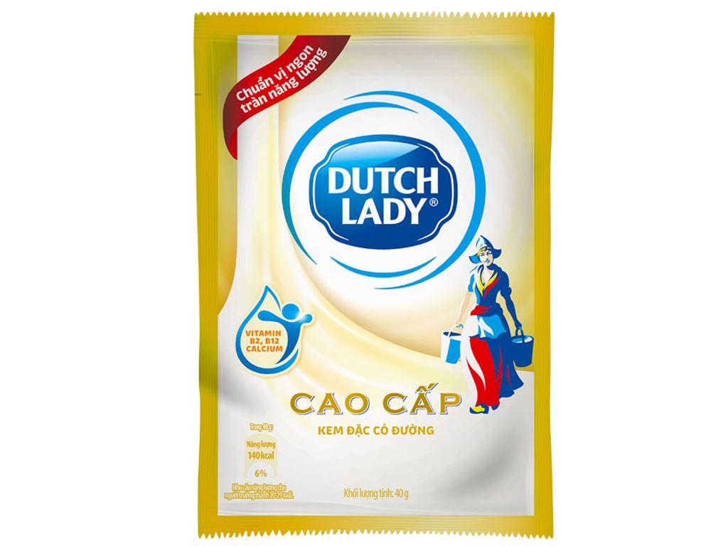Kem đặc có đường Dutch Lady cao cấp lốc 6 gói 40g 2