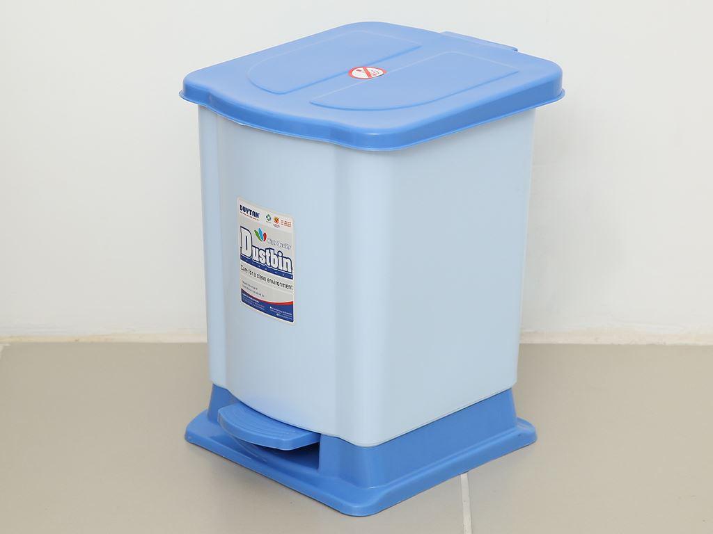 Thùng rác đạp nhựa nhỏ Duy Tân TR02 sữa 1