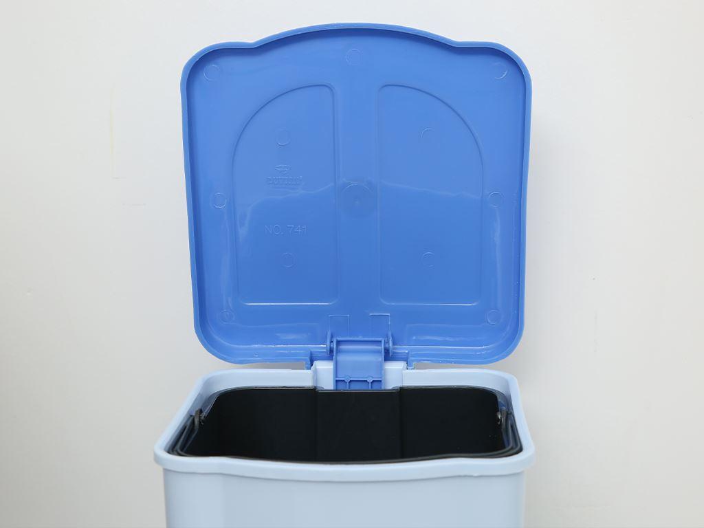 Thùng rác đạp nhựa nhỏ Duy Tân TR02 sữa 3