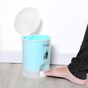 Thùng rác đạp nhựa nhỏ Duy Tân 21.5x19.5cm (giao màu ngẫu nhiên)