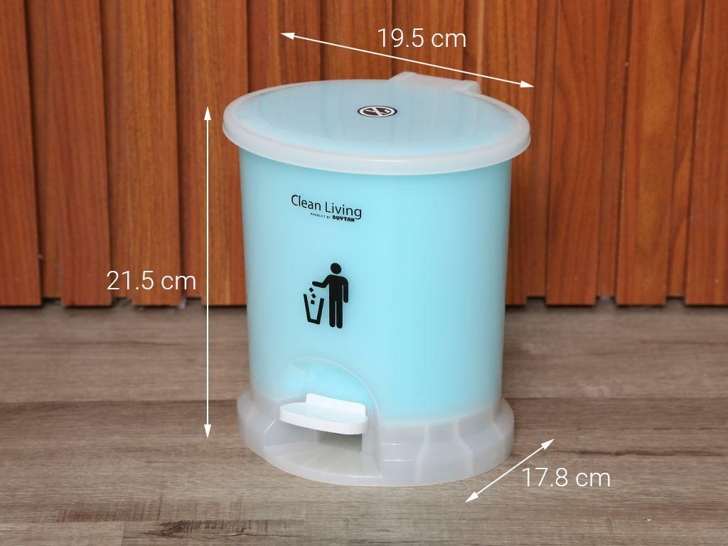 Thùng rác đạp nhựa nhỏ Duy Tân 21.5x19.5cm (giao màu ngẫu nhiên) 7