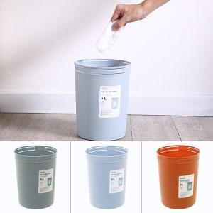 Sọt rác tròn Inochi Hiro 5L 18.4 x 18.4 x 23.4 cm (giao màu ngẫu nhiên)
